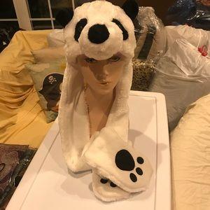 Accessories - Panda hat scarf glove combo 🐼